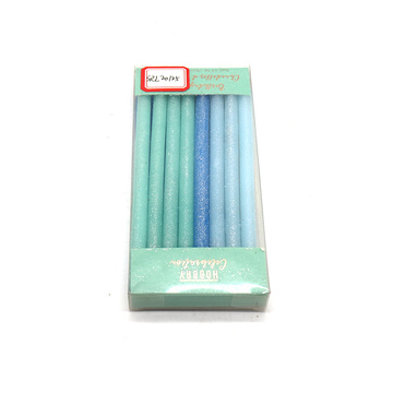 Colored Stick Glitter Happy Birthday Candle