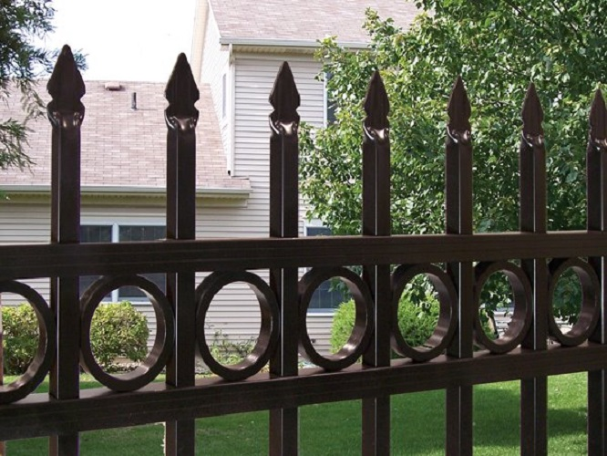 High Security PVC Coated Galvanzied Zinc Steel Fence