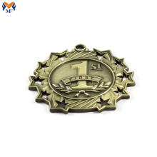 Custom gold rank metal medal