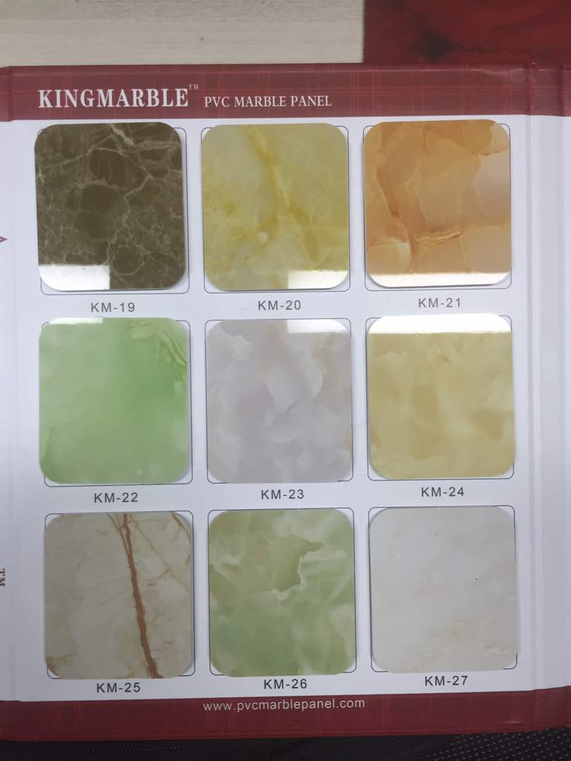 New designed ODM decorative pvc uv marble panel for kitchen cabinet