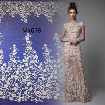 Embroidered Net Fabric for Clothes