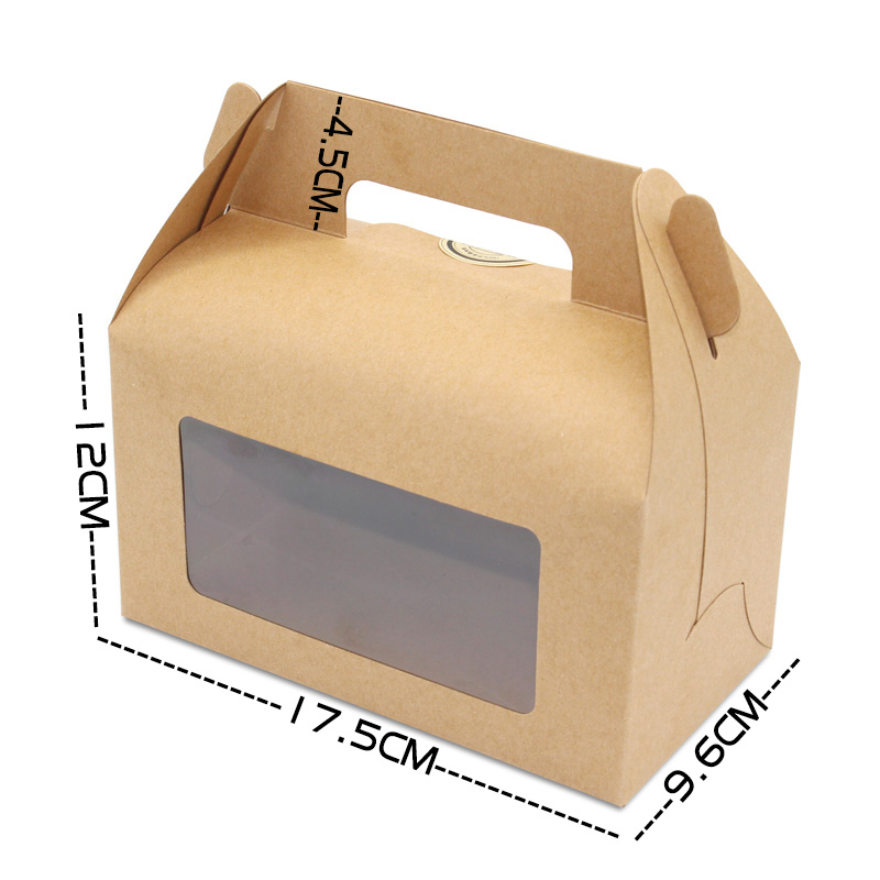 Brown kraft cake box with window bakery boxes