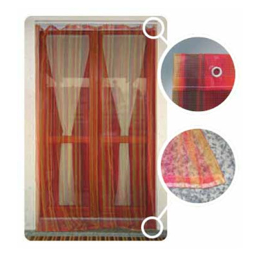 Window curtain in polyester for balcony protection