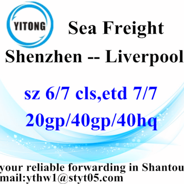 Shenzhen Gobal Freight Forwarding by sea to Liverpool