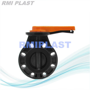 PVC Plastic Butterfly Valve Manual operate ANSI CL150