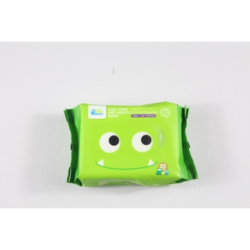 Natural cotton individually wrapped personal hygiene wet baby wipes