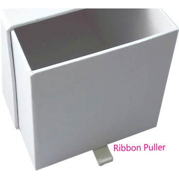 CMYK drawer box with ribbon and logo
