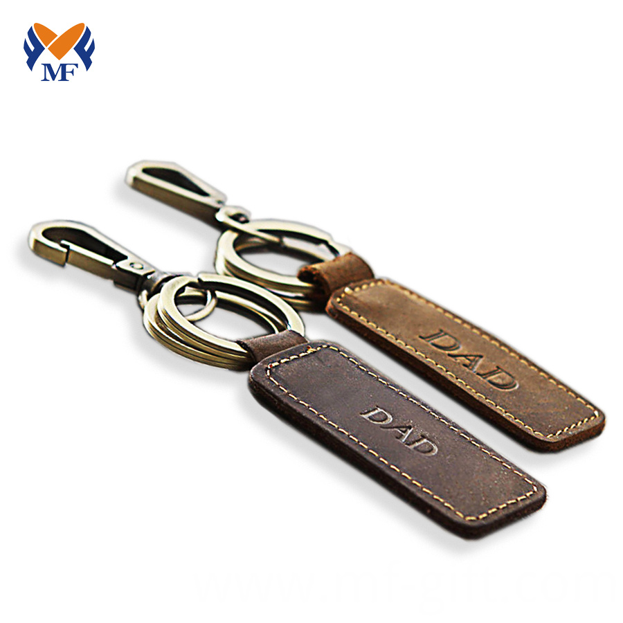 Leather Keychain With Name