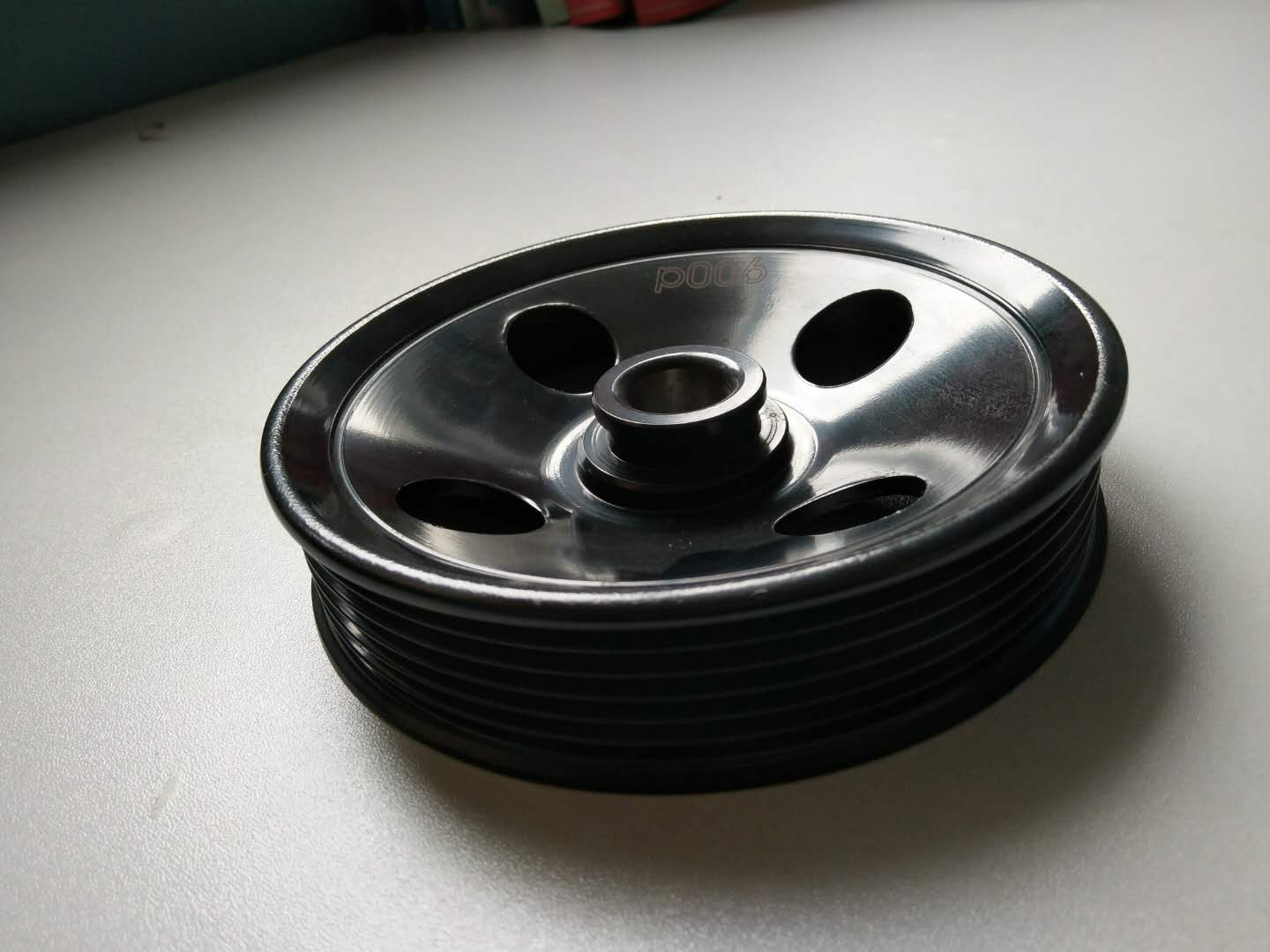 Auto power pump pulley
