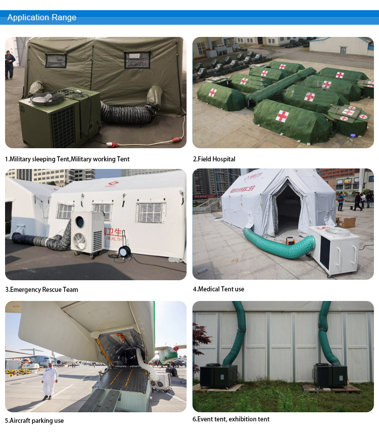 Tent Air Conditioner Application Range