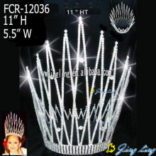 Reliable for Colored Rhinestone Full Round Pageant Crown Europe and America Full Round Pageant Crowns export to Hungary Factory