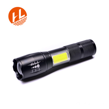 Al aire libre Super brillante impermeable COB táctica FlashLight