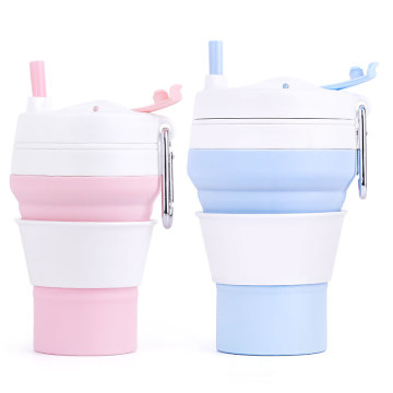 collapsible reusable foldable silicone reusable coffee cup cheap wholesale