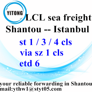 Good Quality for Sea Freight LCL Cheapest Ocean Freight Rates from Shantou to Istanbul export to Netherlands Factory