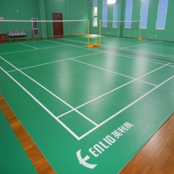 Vinyl indoor badminton court floor mat