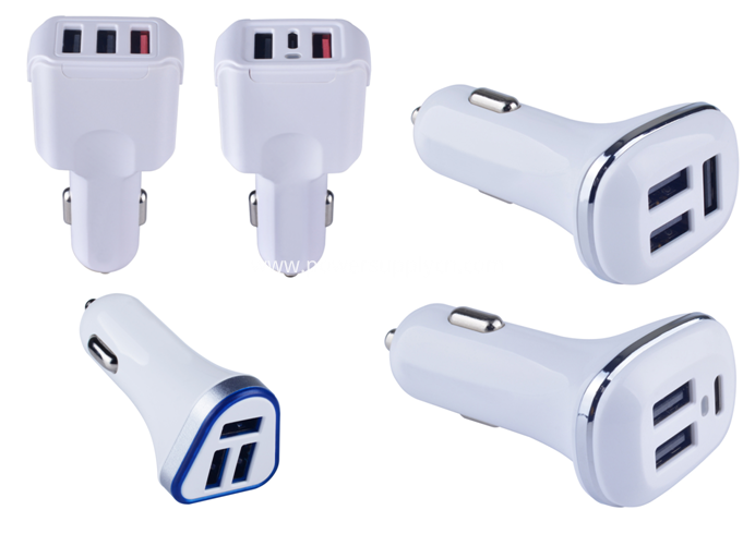 3 USB ports car charger 4