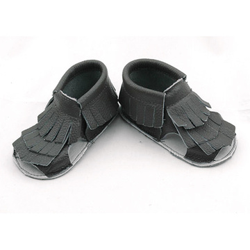 Wholesale Genuine Leather Baby Tassels Flip Flops