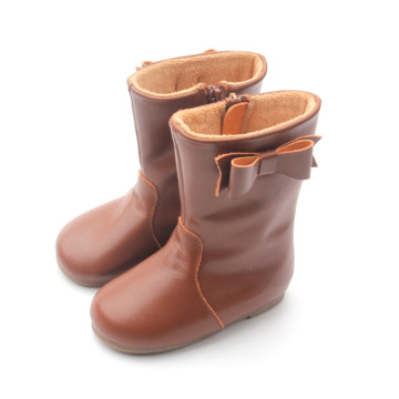 Handmade Leather Shoes High Heel Kids Booties