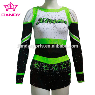 Personlized Products for China All Star Cheerleading Uniforms,Cheerleading Uniforms,Custom Cheerleading Uniforms Supplier off the shoulder stars cheer dance costume supply to China Exporter