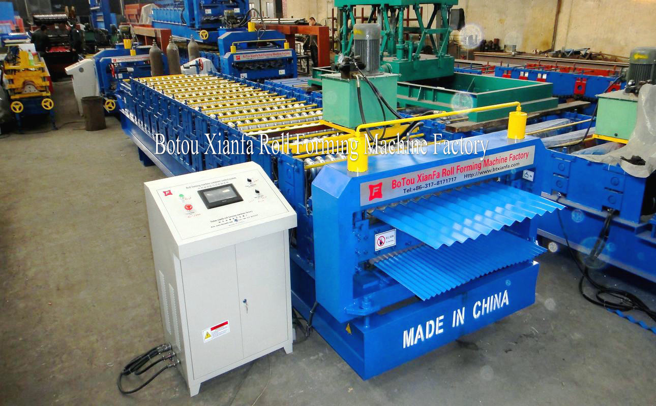corrugated double deck machine