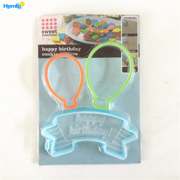Plastic Happy Birthday Cookie Cutter Set