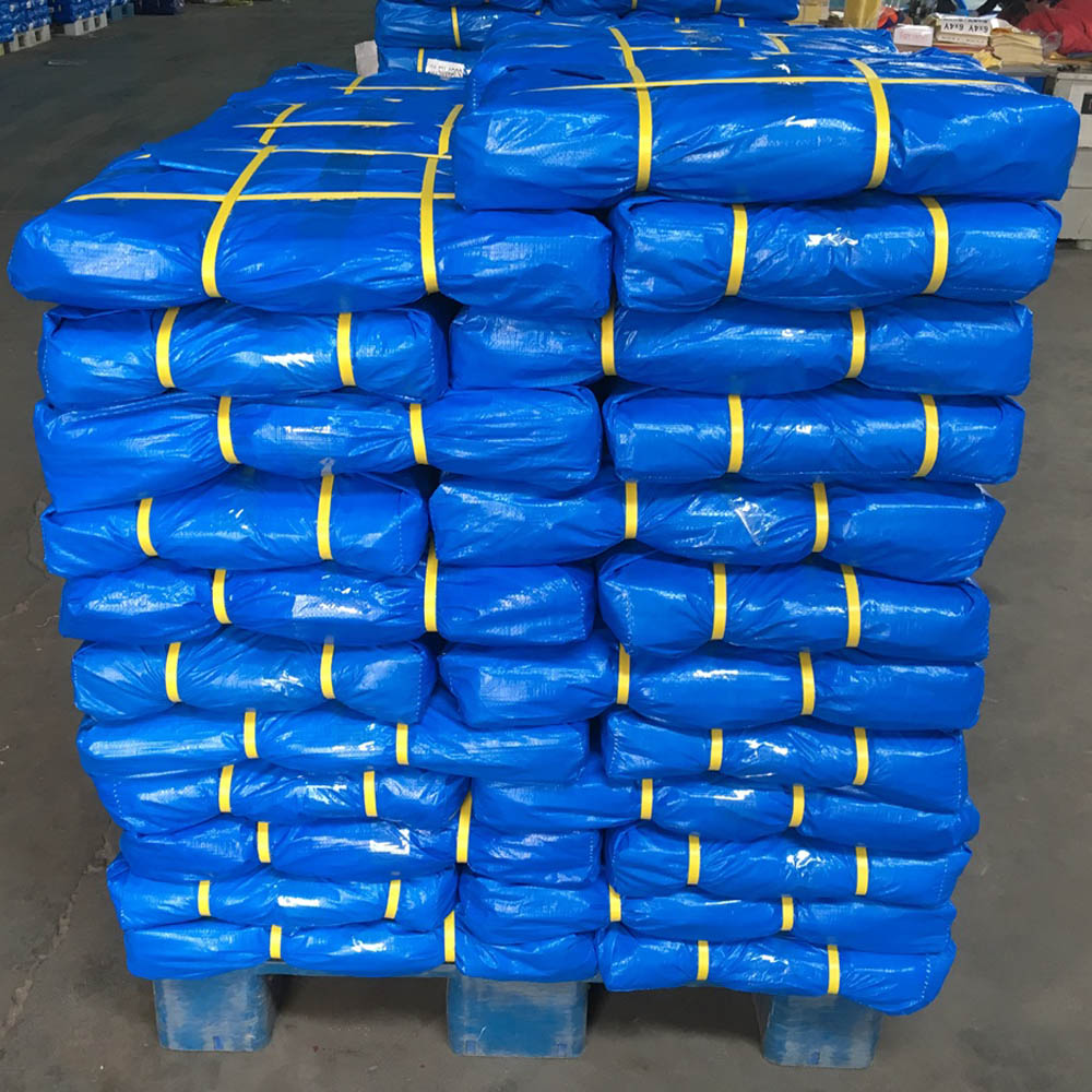 Blue White Tarpaulin Bale Packing
