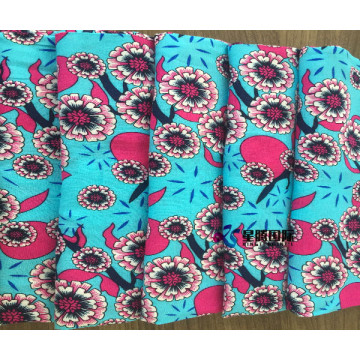 Soft Flower Woven 100% Rayon Printed Fabric