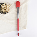 Christmas gift snow shape silicone food tongs