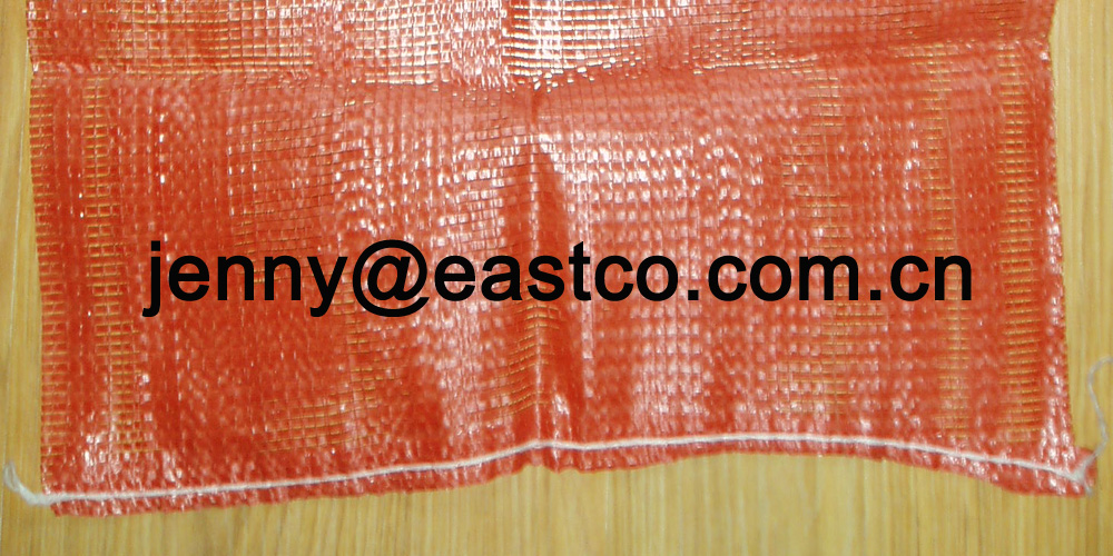 PE Leno Mesh Net Bag Sack bottom Straight line sewing