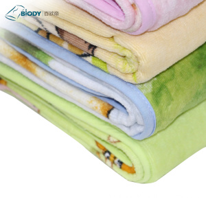 Factory directly for Terry Cloth Baby Blanket Promotional Warm Embroider thick Terry kid Blanket export to Italy Suppliers