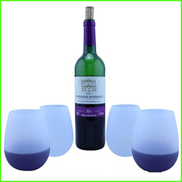 Unbreakable Flexible SILICONE WINE or BEER GLASSES