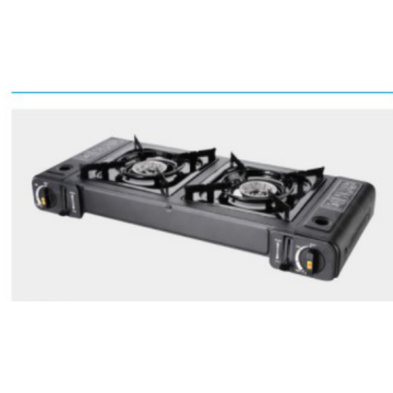 2 Burners Stainless Steel Portable Gas Stove