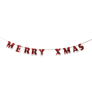 Good Quality for China Christmas Garland,Christmas Wreath,White Christmas Garland Manufacturer Merry XMAS christmas banner bunting export to India Manufacturers