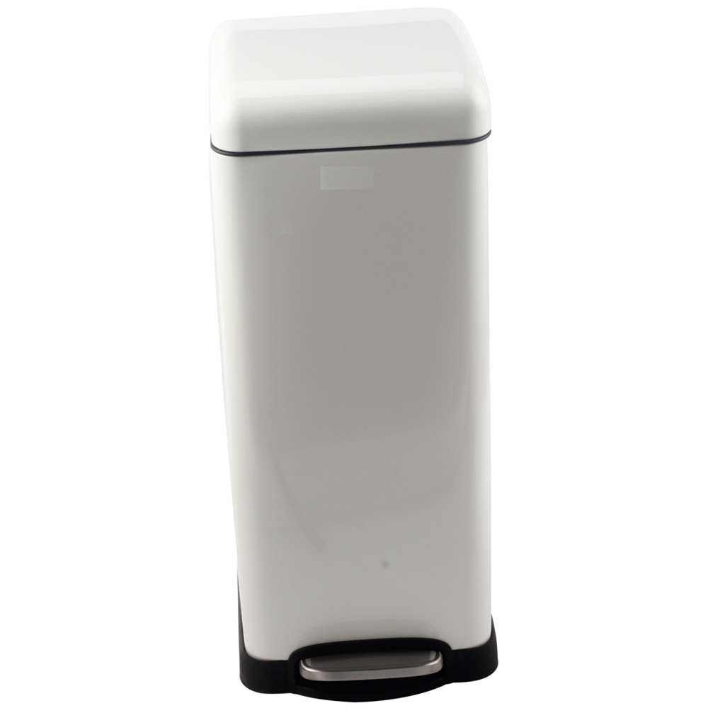 Stainless Steel Trash Can White