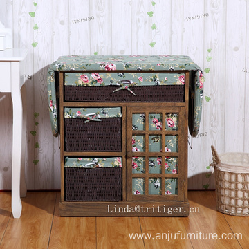 home used wooden ironing table cheap decorative ironing board cabinet with basket drawers