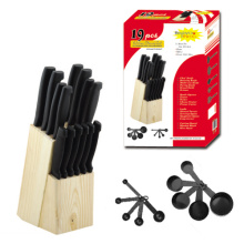 19pcs knife block set