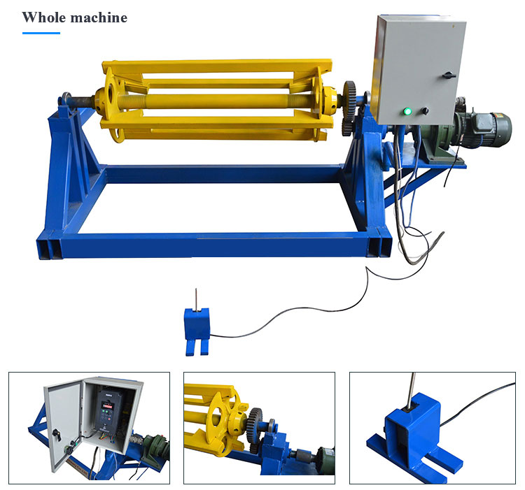 electric decoiler for roll forming machine