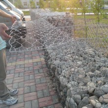 Hot Sale for for Supply Hexagonal Mesh Gabion Box, Extra-Safe Storm & Flood Barrier, Woven Gabion Baskets from China Supplier Cheap Galvanized Hex Gabion For Fence export to Burkina Faso Supplier