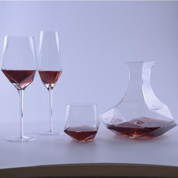 Unique Shape Geo Wine Glass Set