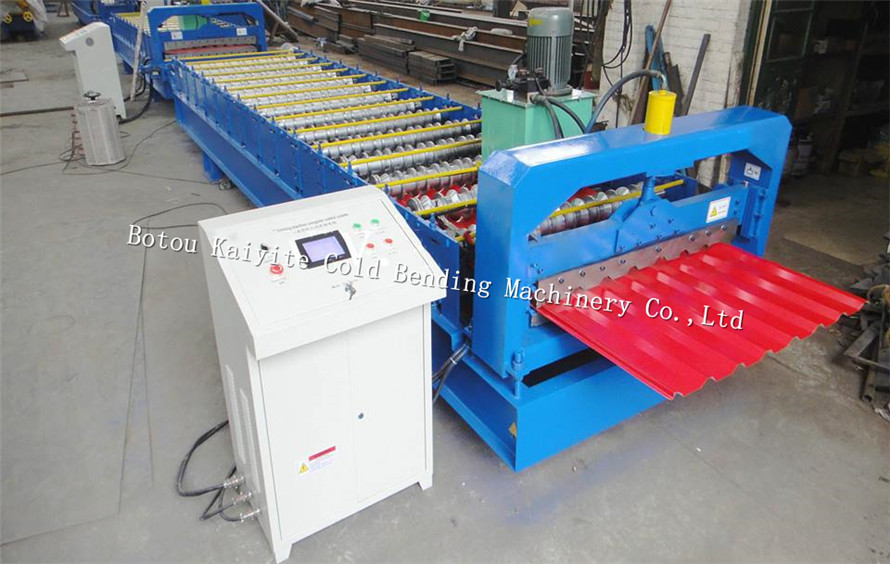 New style color steel trapezoidal IBR sheet roof tile wall panel roll forming Machine