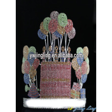 Custom Rhinestone Happy Birthday Cupcake And Balloon Crown