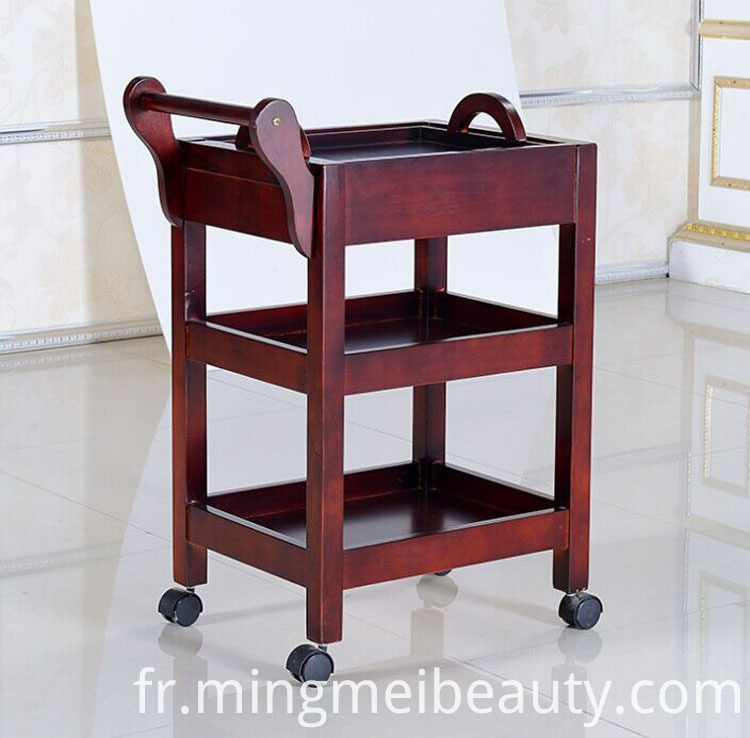 wood beauty salon trolley