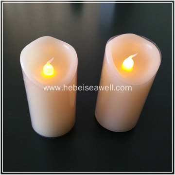 Outdoor safe flameless Real wax led candle