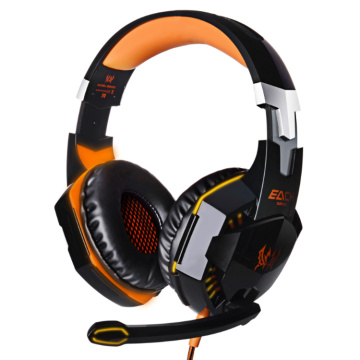 PC USB stereo Led gaming headset med mikrofon