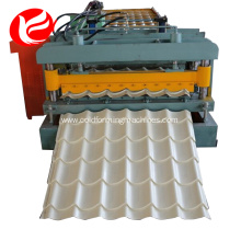 Roof glazed tile rolling making roll forming machine