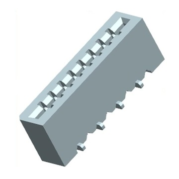 1.0mm FPC NON-ZIF Vertical SMT Dual Contact