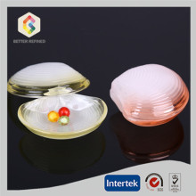 Shell shape glass jewel box