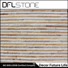 Factory Price for Stack Stone Panel Yellow Water Flow Stone Cladding for Fountain export to France Factory