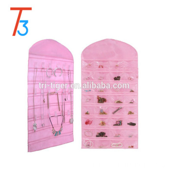 Fashionable Wholesale Foldable clear plastic Hanging Jewelry Organizer