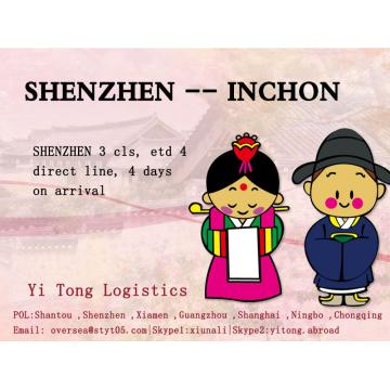 Shenzhen Sea Freight to Inchon